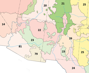 ArizonaNew Mexico Mountains Ecoregion Wikipedia - Map of arizona and new mexico