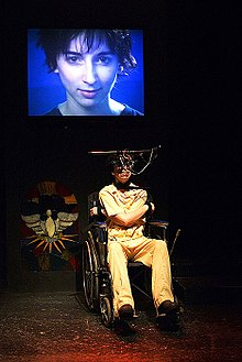 a clockwork orange novel  vanessa claire smith in brad s multi media stage production of a clockwork orange 2003 los angeles photo peter zuehlke