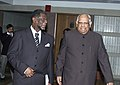 A Parliamentary Delegation from the Republic of Namibia led by the Speaker of the National Assembly, Dr. Theo-Ben Guirab with the Speaker, Lok Sabha, Shri. Somnath Chatterjee, in New Delhi on December 11, 2006.jpg