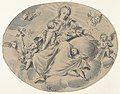 A Personification of Charity Seated on a Cloud, Surrounded by Putti MET DP844313.jpg