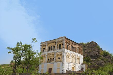 The abandoned Gurudwara Chowa Sahib, located near the Rohtas Fort in Pakistan, commemorates the site where Guru Nanak is popularly believed to have created a water-spring during one of his udasis A Sikh Monument in Rohtas by Usman Ghani.jpg