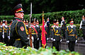 A Ukrainian Army honor guard stands in the rain at the War Memorial in Kiev, Ukraine, on Jun. 5, 2001 010605-D-WQ296-196.jpg