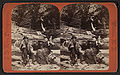 A couple relaxing on logs in Watkins Glen, by Hope, J. D., 1846-1929.jpg