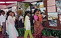 A group of women visit a stall at the Public Information Campaign on Bharat Nirmaan organized by Press Information Bureau in Upharli Mirza, South Kamrup District of Assam on August 08, 2006.jpg