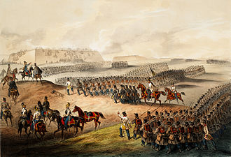 Austrian Empire - Battle of Komárom during the Hungarian Revolution, 1849