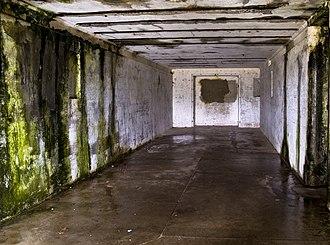Fort Stevens (Oregon) - Interior of the abandoned fort