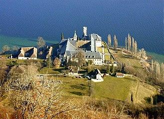 Hautecombe Abbey - Hautecombe Abbey on the shores of the Lac du Bourget