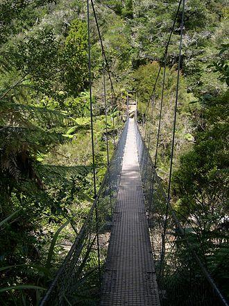 Abel Tasman National Park - Image: Abeltasmannp swingbridge