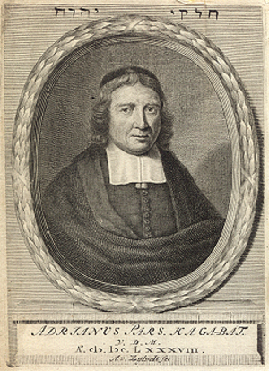Anthony van Zijlvelt - Engraved portrait of Adriaan Pars, by Zijlevelt