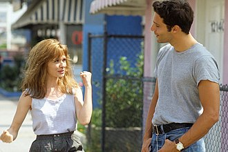 Adrienne Shelly - Shelly in 1992 on the set of Hold Me, Thrill Me, Kiss Me