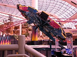"Der ""Chaos Ride"" im Adventuredome"