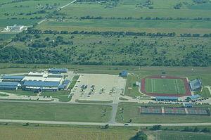 Chanute High School - Aerial photo of Chanute High School