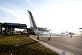 Aero Vodochody L-39C Albatros N150XX Roman86 BSY RSideRear Sunflare SNF 04April2014 (14563287886).jpg