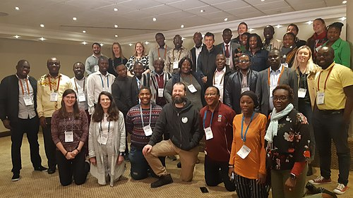 Group photograph of African Climate Change edit-a-thon participants.