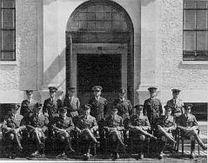 Building 800–Austin Hall - The first Air Corps Tactical School class at Maxwell Field in 1931