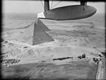 Air views of Palestine. Cairo and the pyramids. Great Pyramid of Kheops (i.e., Cheops) showing entrance on north side LOC matpc.15913.jpg