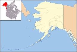 Mount McKinley markerad på kartan.