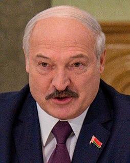 Alexander Lukashenko Belarusian politician, current president of Belarus