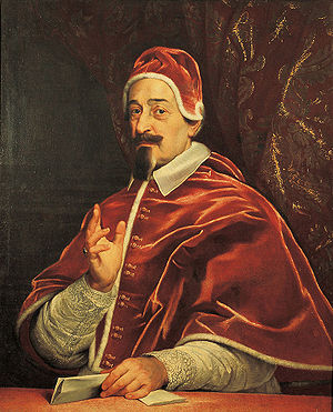 Pope Alexander VII - Portrait by Giovanni Battista Gaulli