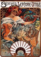 Alfons Mucha - 1896 - Biscuits Lefèvre-Utile
