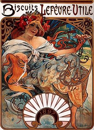 Lefèvre-Utile - Image: Alfons Mucha 1896 Biscuits Lefèvre Utile