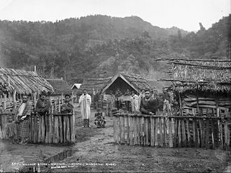Koriniti - Koriniti village in 1885; photograph by Alfred Burton