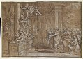 Allegory in Honor of Cardinal Antonio Barberini the Younger (1607-1671) (Design for an Engraving) MET DP140839.jpg