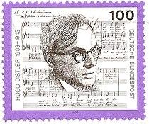 Allemagne timbre HugoDistler 1992obl.jpg