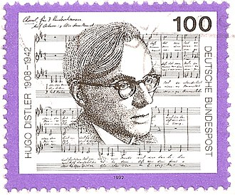 Hugo Distler - The composer on a German stamp of 1992