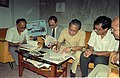 Aloke Maitra Signing MOU Of Goto GSS-Helios And Astrovision-70 Projection System For Science City - NCSM - Calcutta 1995-06-15 245.JPG
