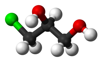 3-MCPD - Image: Alpha chlorohydrin 3D balls