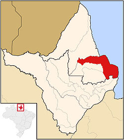 Location of Amapá in Amapá State