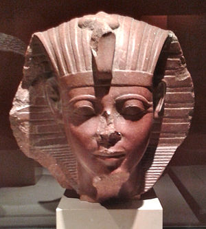Amenhotep II - Sphinx head of a young Amenhotep II, Musée du Louvre.