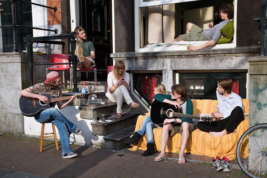 Jeunes musiciens vivant en communauté à Amsterdam (2008). Photo Jorge Royan