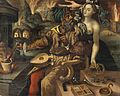 An alchemist being tempted by Luxuria. Oil painting after Ma Wellcome V0017650.jpg
