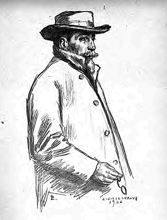 Auguste Leroux - Drawing of Anatole France, 1906