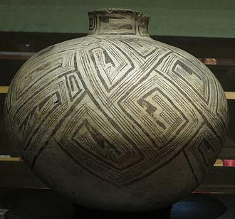 Reserve, New Mexico - Reserve black on white olla, 1050-1100 CE, Heard Museum.