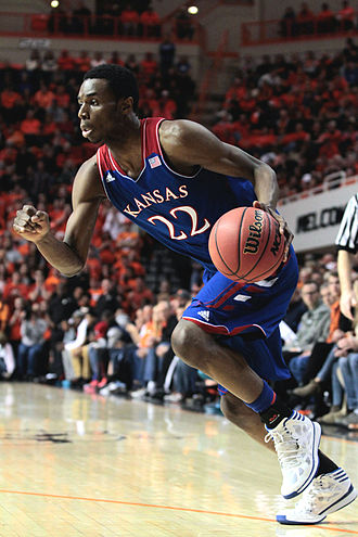 Andrew Wiggins - Wiggins playing for Kansas in 2014