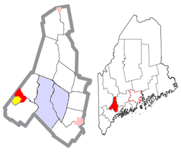 Androscoggin County Maine Incorporated Areas Mechanic Falls Highlighted.png