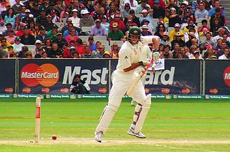 Andrew Symonds - Andrew Symonds on the way to his maiden Test hundred in 2006.