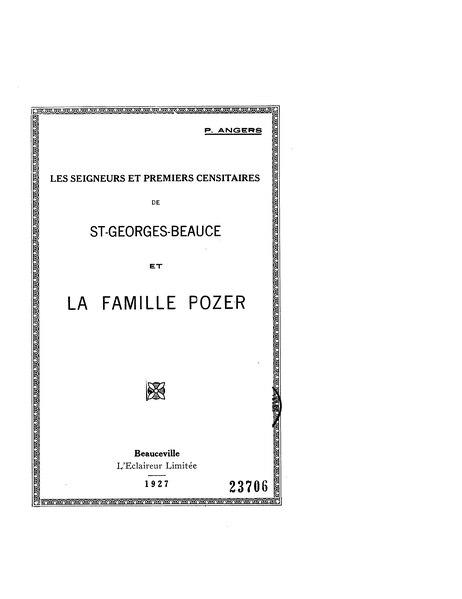 File:Angers - Les seigneurs et premiers censitaires de St-Georges-Beauce et la famille Pozer, 1927.djvu