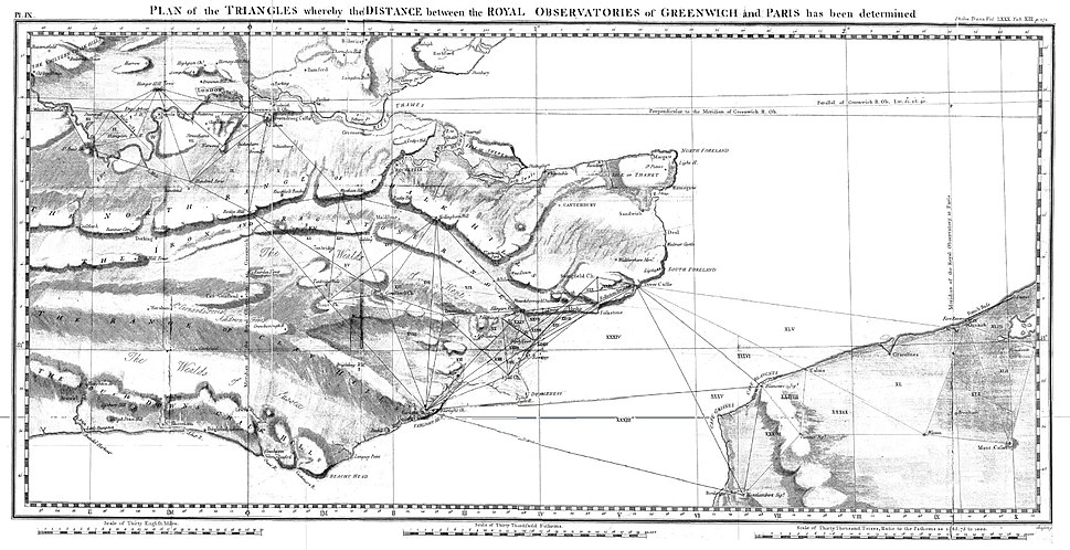 Anglo-French survey of 1784-1790