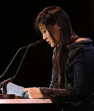Austrian writer Anna Kim reading from her book...