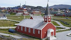 Nuuk Cathedral - Image: Annaassisitta Oqaluffia old nuuk