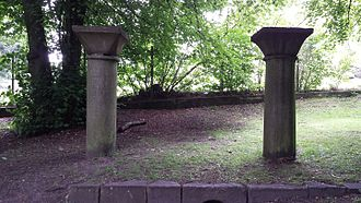 Essenbæk Abbey - Anna Krabbe's Columns in Tøjhushaven in Randers.