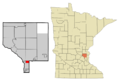 Anoka Cnty Minnesota Incorporated and Unincorporated areas SpringLakePark Highlighted.png