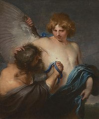 Self-Portrait as Icarus with Daedalus