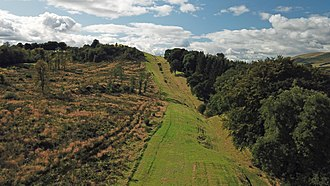 Antonine Wall - Wall near Bar Hill showing ditch