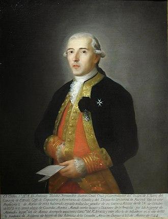 Captain general of the Navy - Image: Antonio Valdés Fernández Bazán. Anónimo, 1828