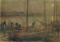 AokiShigeru-1908-Ships at Anchor under the Moon-2.png